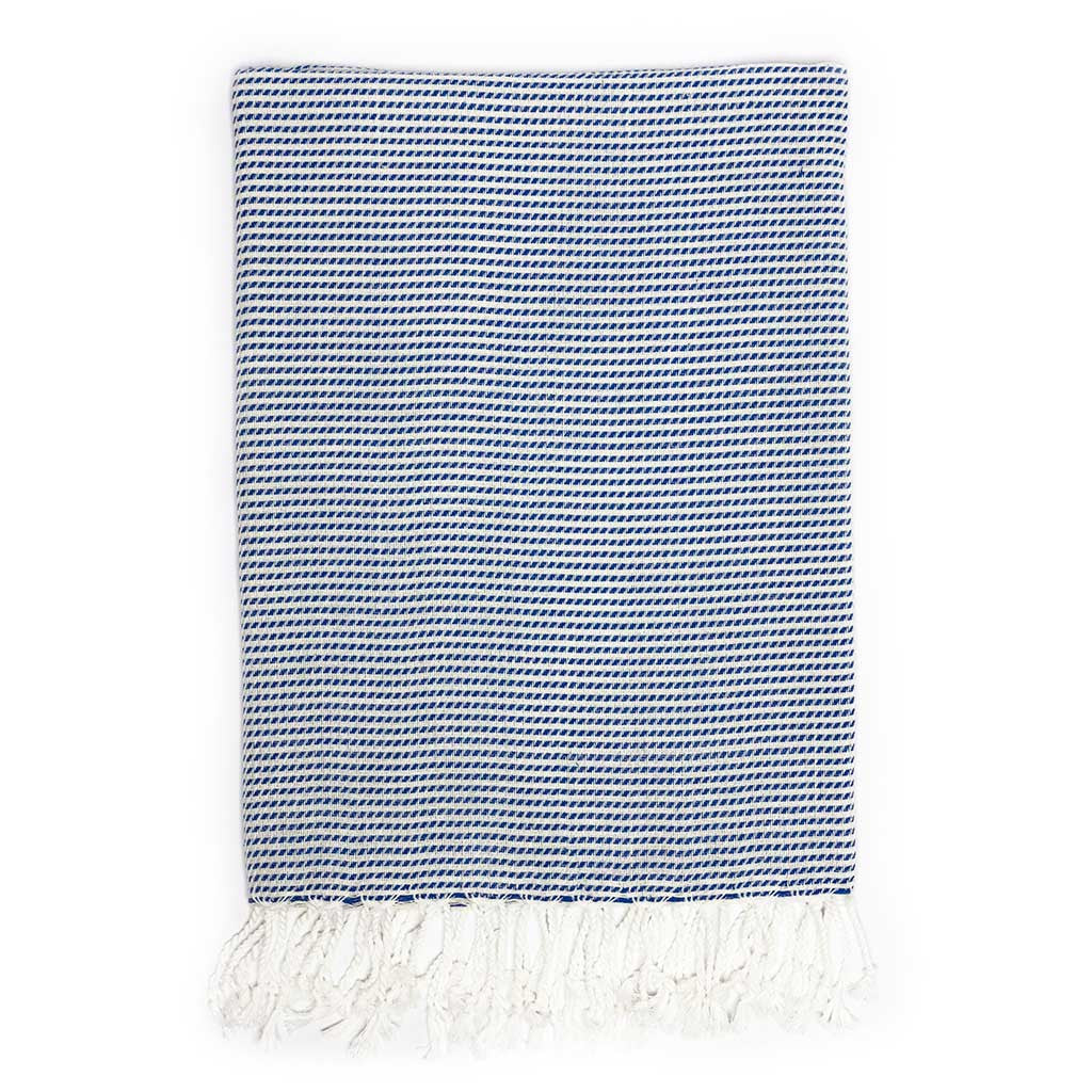 Moire Towel (Blue)
