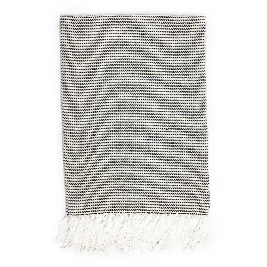 Moire Towel (Black)