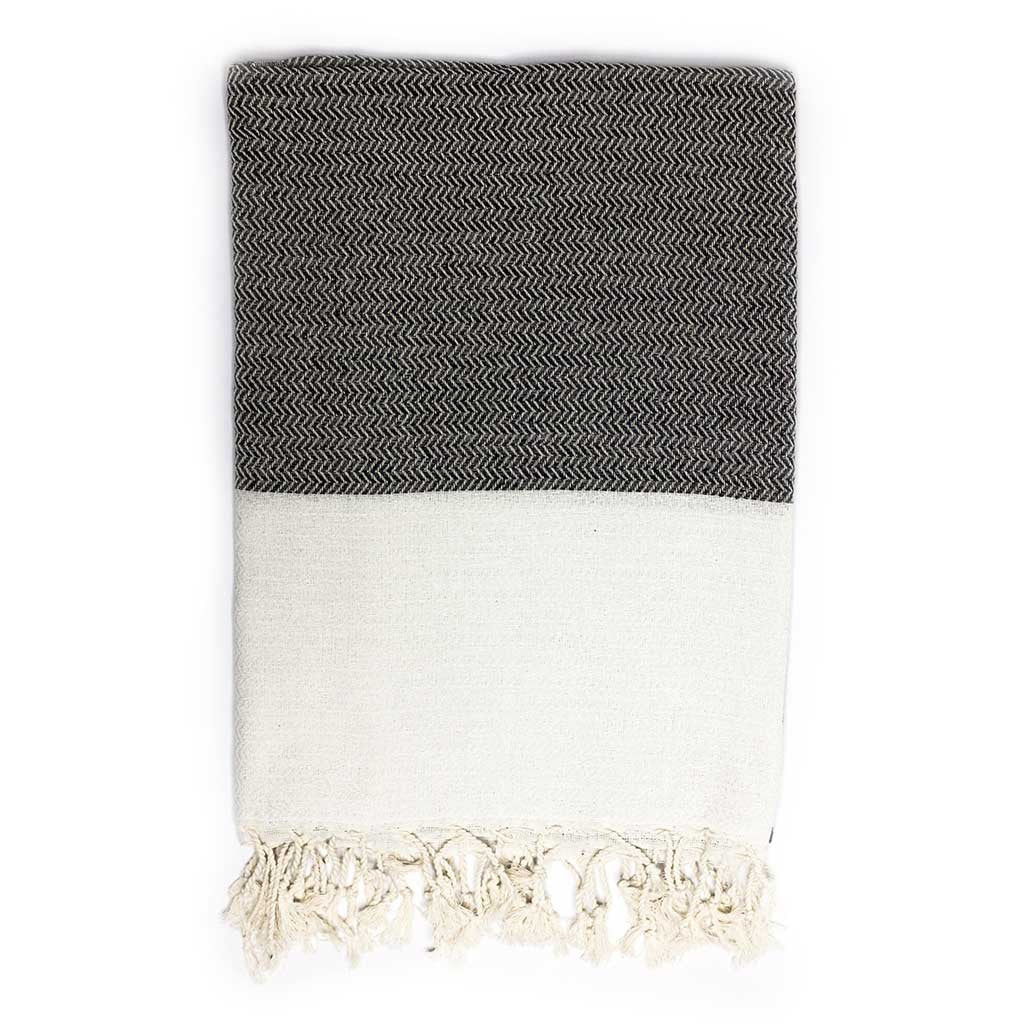 Zigzag Towel (Black)