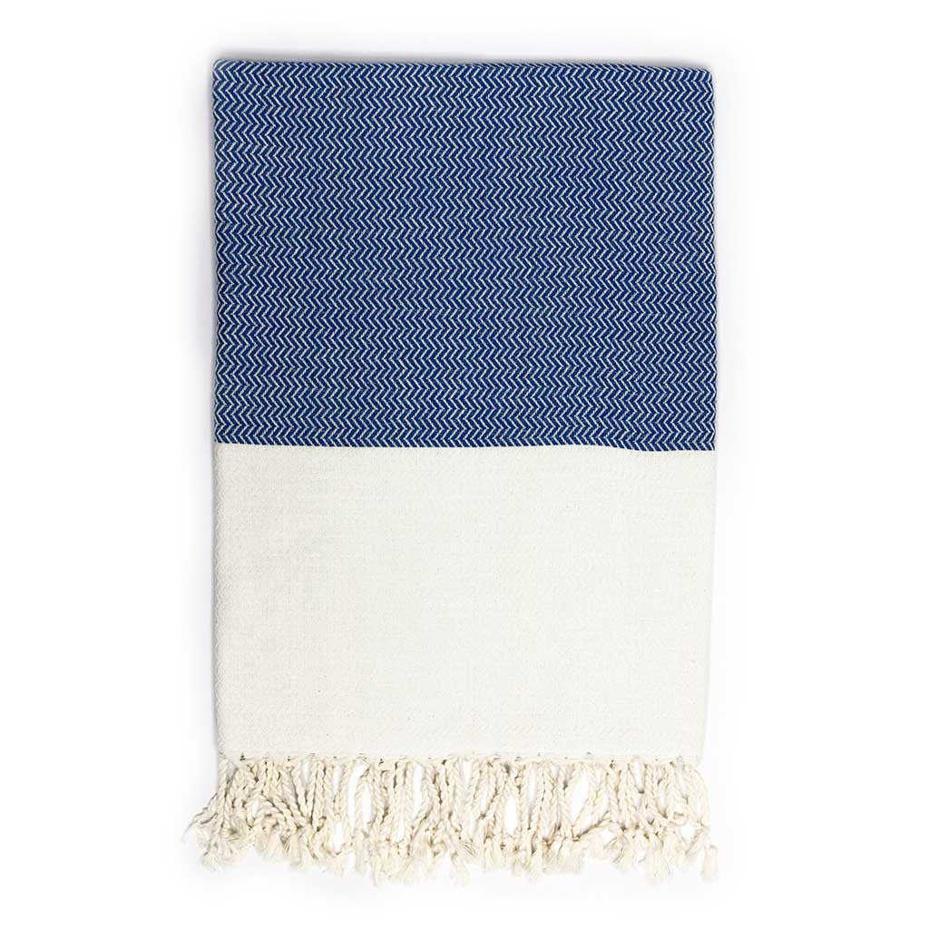 Zigzag Towel (Blue)