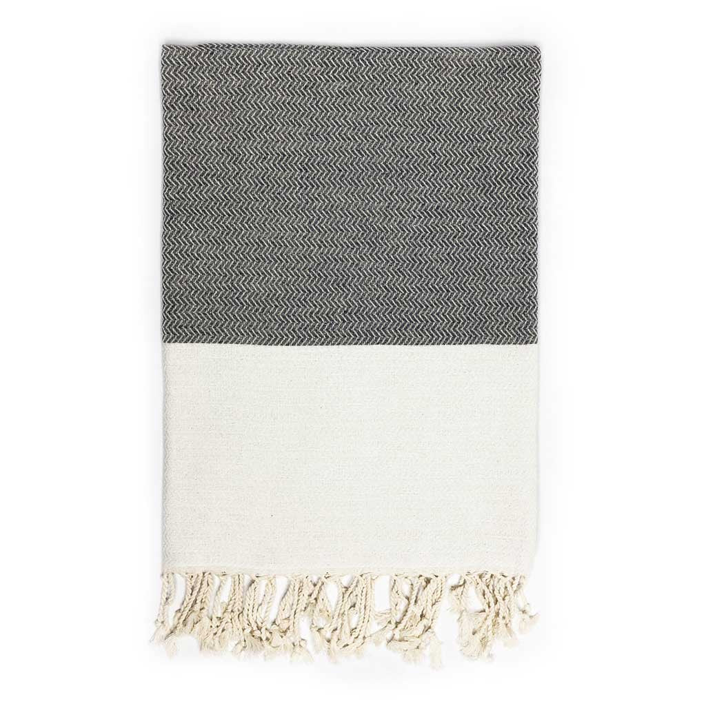 Zigzag Towel (Grey)
