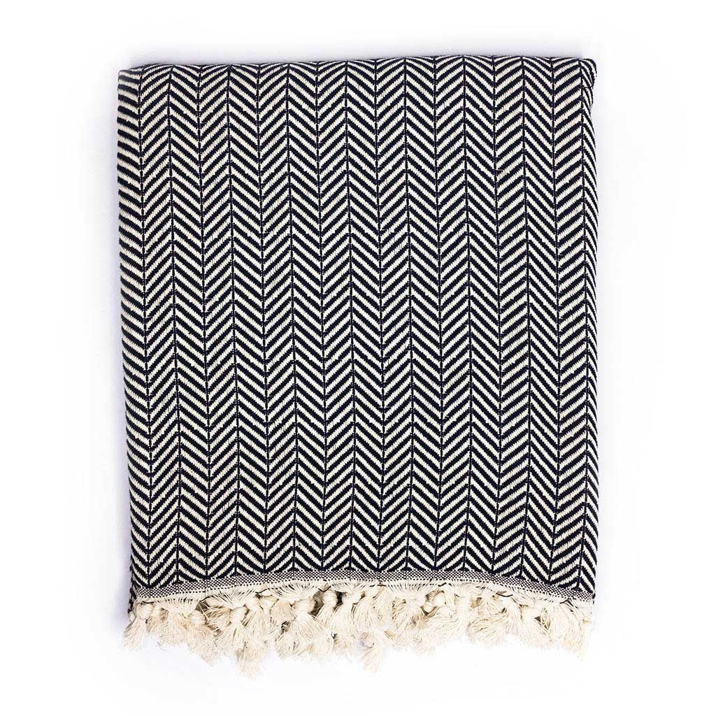 Chevron Blanket (Black)