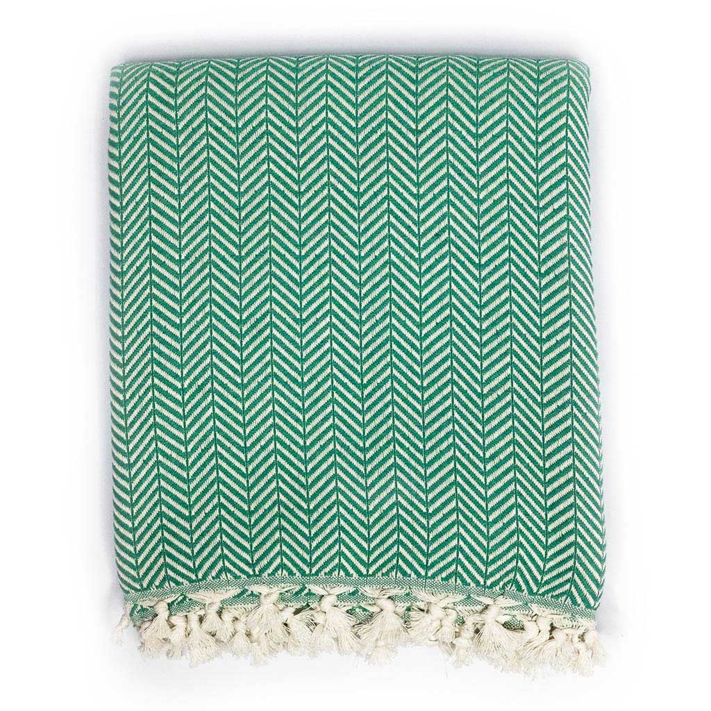 Chevron Blanket (Green)