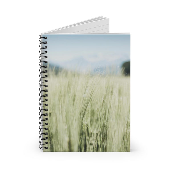 Autumn Hayfield - Spiral Lined Notebook