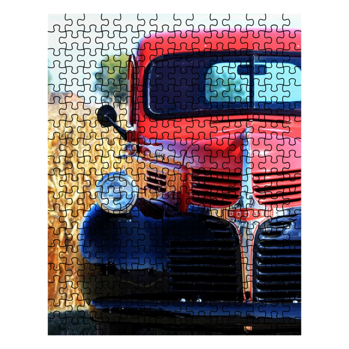 Puzzle - Old Red Truck in the Corn Fields