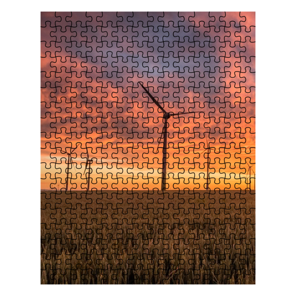 Puzzle - Windmill Sunset
