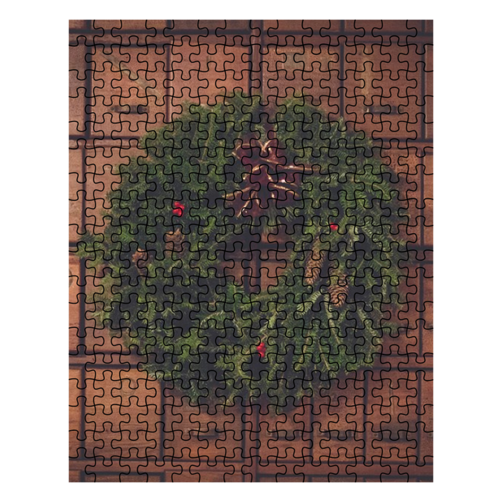 Puzzle - Wreath on a Wooden Chest