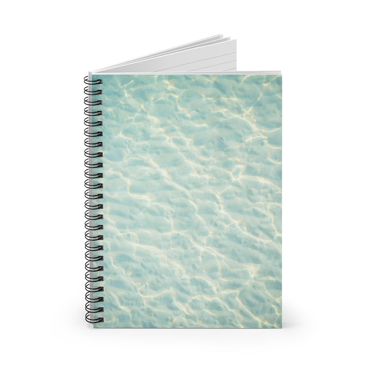 Clear, Blue Water - Spiral Lined Notebook