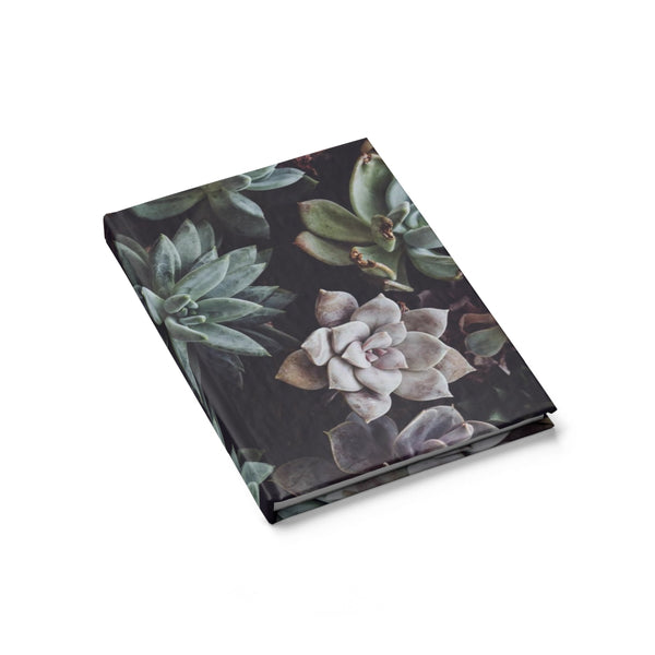 Assorted Succulents on Black - Hardcover Blank Journal