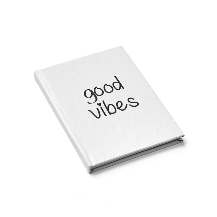 Good Vibes - Black and White - Hardcover Blank Journal
