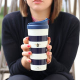 "Kate Spade New York Thermal ""Bee"" Mug - Navy Stripe"