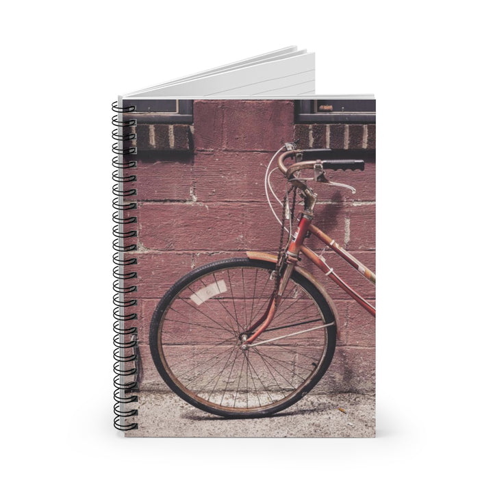 Old Red Bike - Spiral Lined Notebook