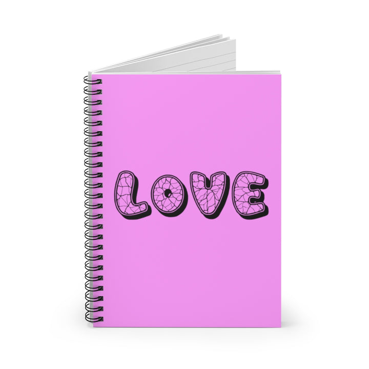Love - Pale Magenta - Spiral Lined Notebook