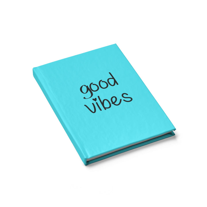 Good Vibes - Blue - Hardcover Blank Journal
