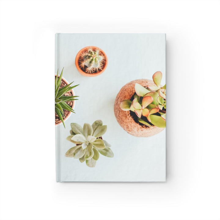 Assorted Succulents on White - Hardcover Blank Journal