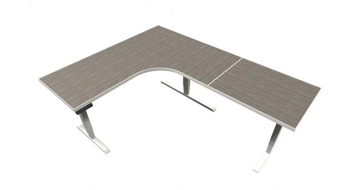 UP Table - L-Shaped Desk - Absolute Acajou