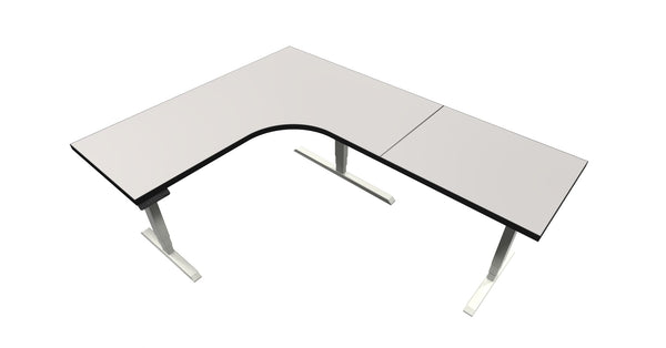 UP Table - L-Shaped Desk - Stone