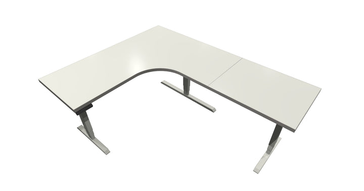 UP Table - L-Shaped Desk - White