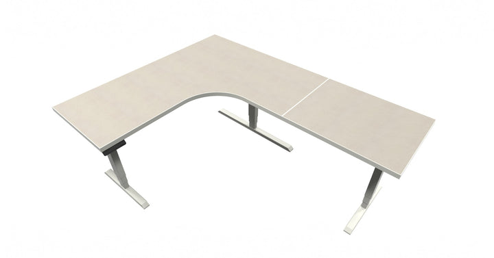 UP Table - L-Shaped Desk - White Tigris