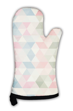 Oven Mitt, Triangle Pattern Geometric Abstract