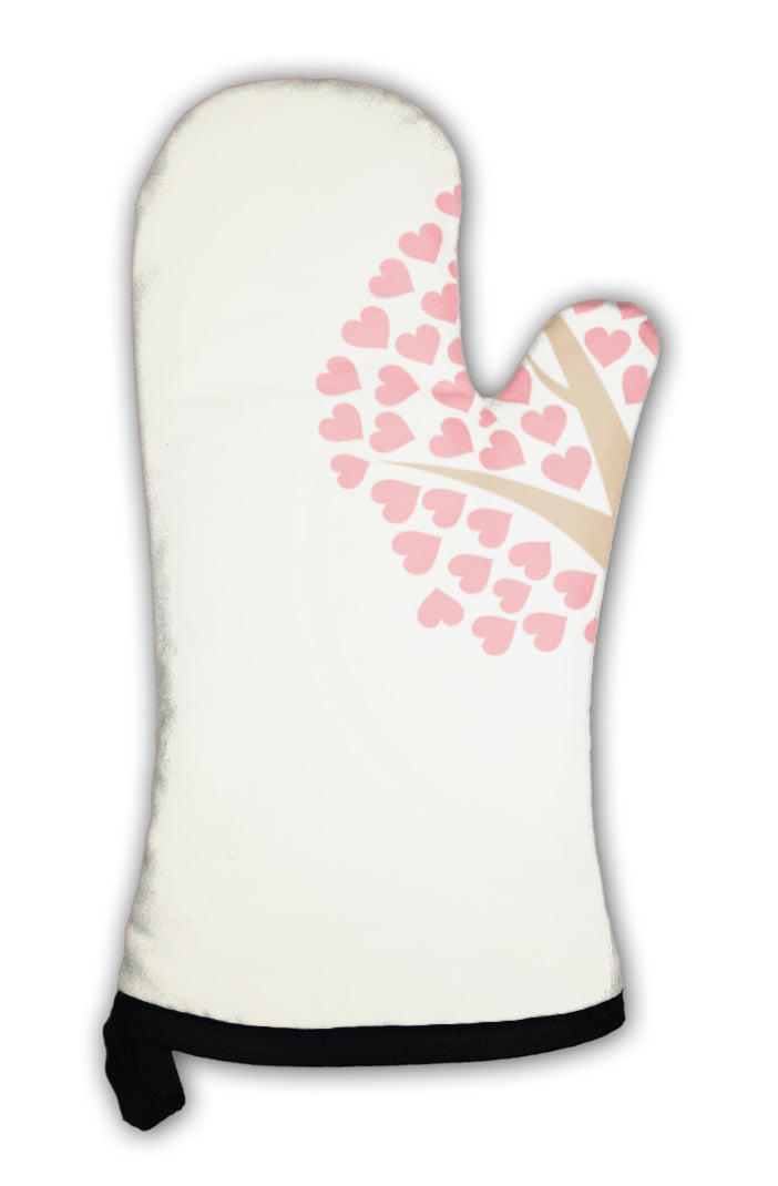 Oven Mitt, Valentines Day Tree With Hearts