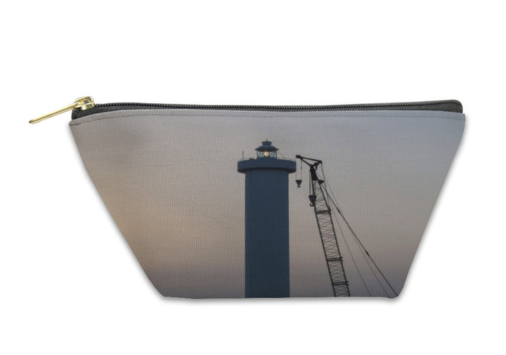 Accessory Pouch, Lighthouse In The Port At Sunset
