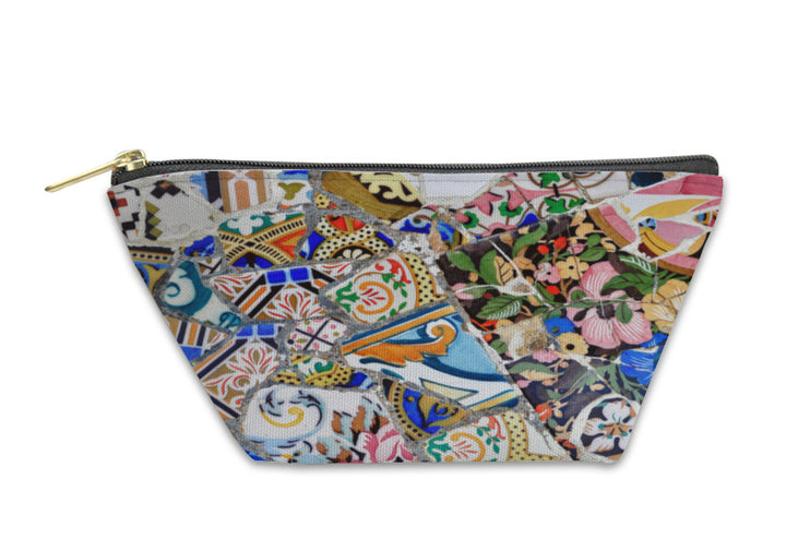 Accessory Pouch, Gaudi Mosaic In Guell Park In Barcelona Spain