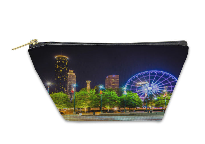 Accessory Pouch, Ferris Wheel And Buildings Seen From Olympic Centennial Park At
