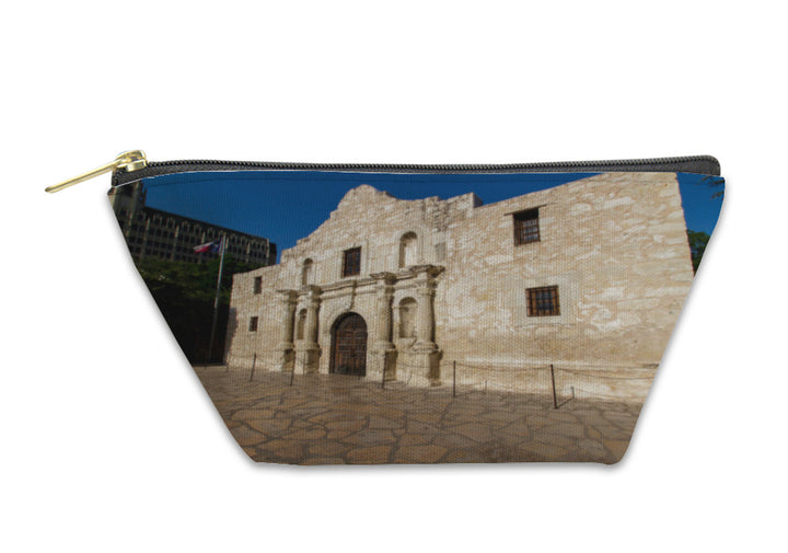 Accessory Pouch, Interesting Perspective Of The Historic Alamo San Antonio Texas Taken Dec 2012