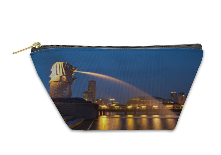 Accessory Pouch -  Singapore Skyline at Night