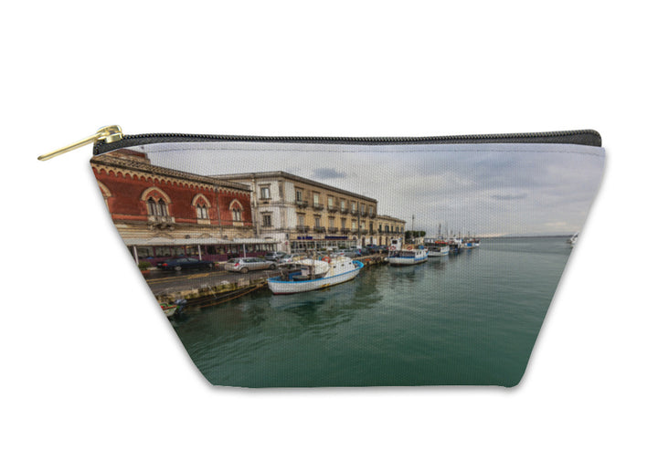 Accessory Pouch, Coastline Of Syracuse Sicily Italy