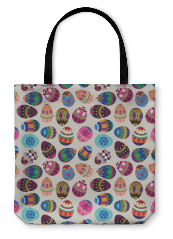Tote Bag, Easter Egg Pattern