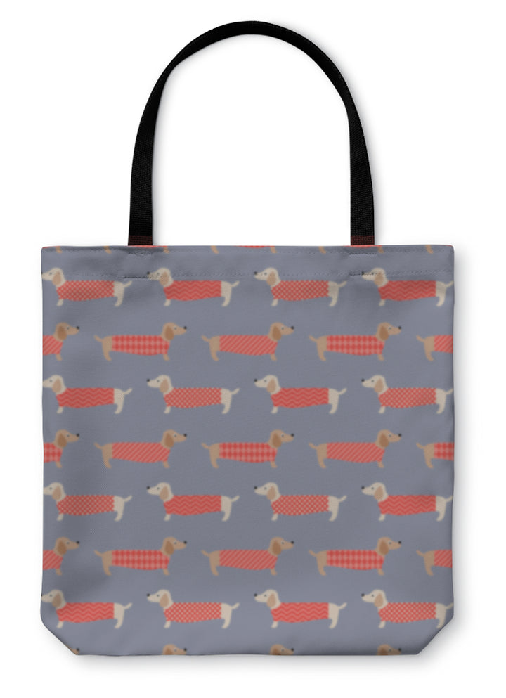 Tote Bag, Dachshund Dogs Pattern