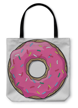 Tote Bag, Cartoon Donut Illustration