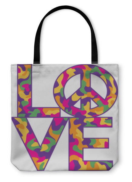Tote Bag, Love With Peace Symbol