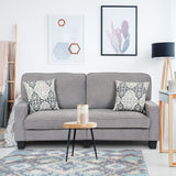 Upholstered Loveseat Sofa - Grey or Brown