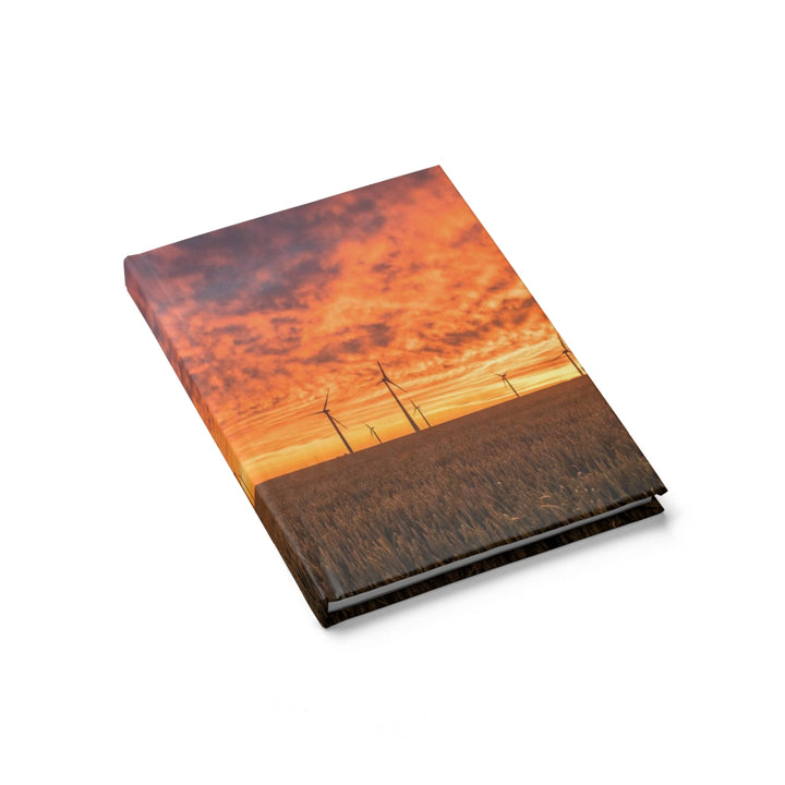 Windmill Sunset - Hardcover Blank Journal