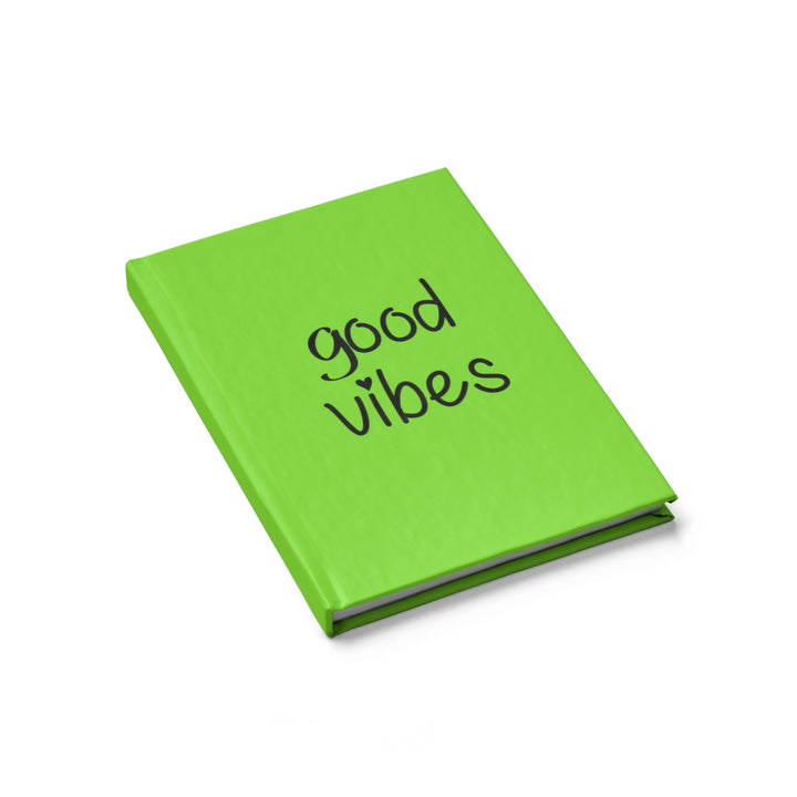 Good Vibes - Green - Hardcover Blank Journal