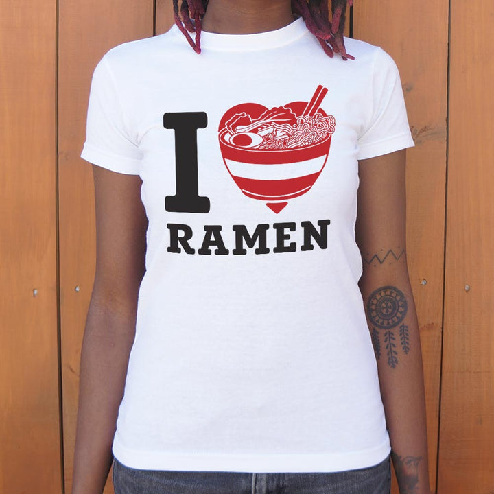 I Love Ramen - Fitted T-Shirt