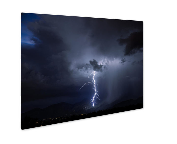 Metal Print - Lighting Storm in Tucson, Arizona