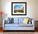 Framed Print - On the River - Sunny Day Skyline in Cleveland, Ohio