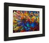 Framed Print - Stained Glass Design