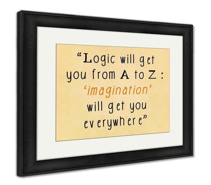 Framed Print - Albert Einstein Quote - Imagination