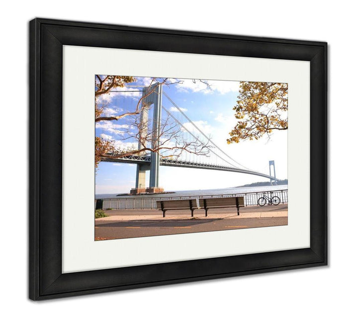 Framed Print - Autumn on a NYC Bridge