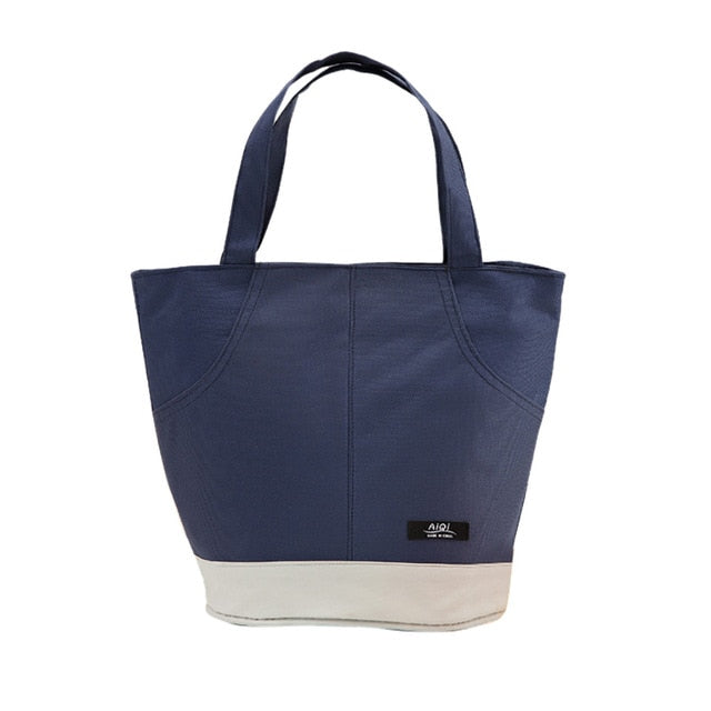 Thermal Insulated - Canvas Lunch Tote - 3 Colors