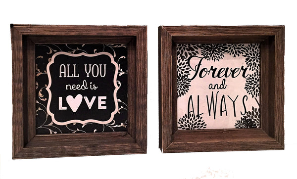Wooden Signs with Quotes