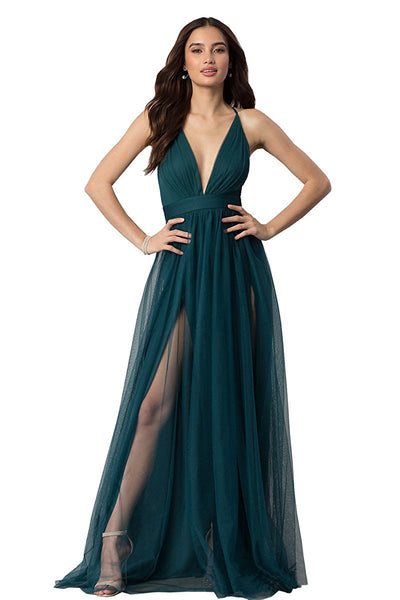 New Fsashion! Cheap Long Tulle Prom Dress,Evening Dress,Bridesmaid Dress,Floor-Length Prom Dress,Empire Prom Dress