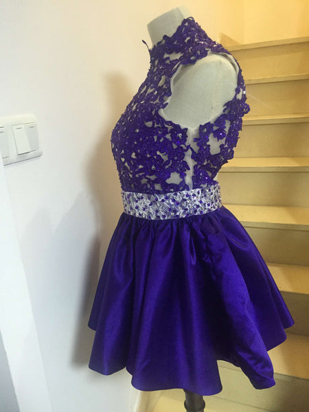 D230 High Neck Real Made Homecoming Dresses, Real Cocktail Dress