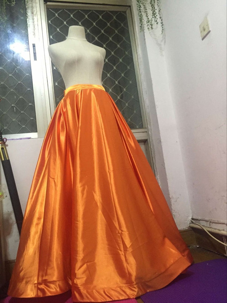 D233 Real Made Orange Two pieces Long prom Gowns, Evening Dresses ...