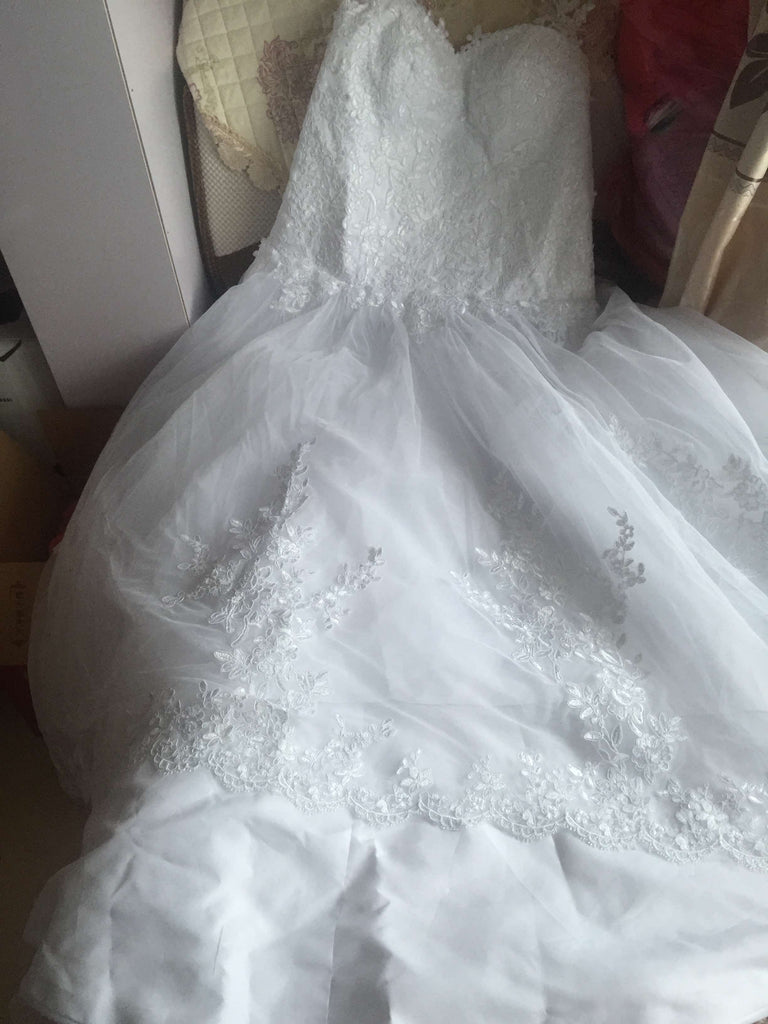 D241 Real Made Long Chapel Train Ball Gown Wedding Dresses, Pregant ...